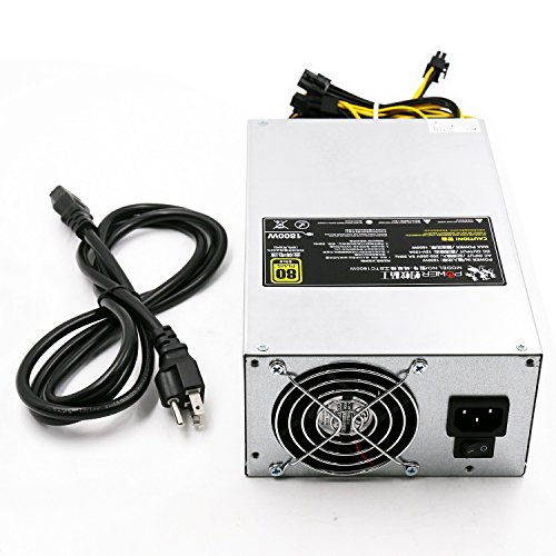 AntMiner S9 L3+ Power Supply (BTC1800W 1600W@220v 1200W@110v w/ 10 Connectors)