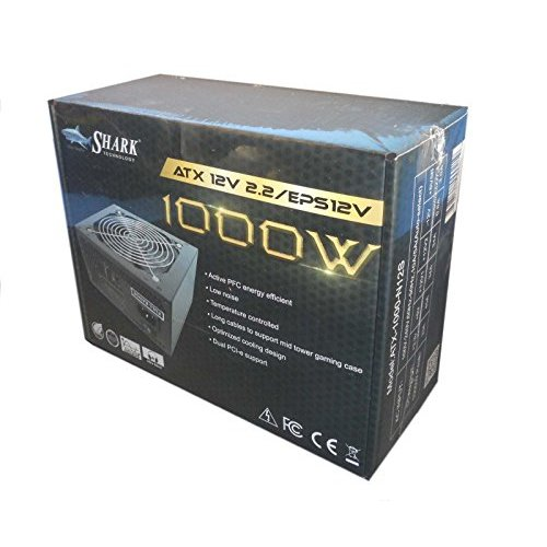SHARK TECHNOLOGY® 1000W Black ATX12V EPS12 Silent 120mm Fan Gaming PC 2x PCI-E Power Supply ATX PSU