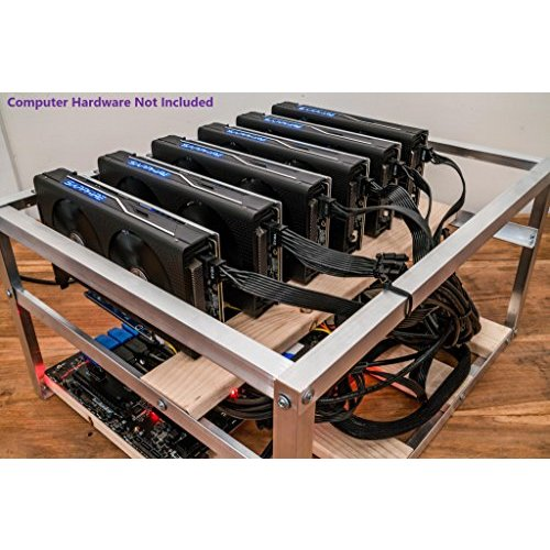 6 GPU Open Air Case for Crypto Currency Mining Rig Frame